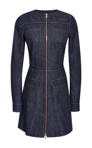 Medium derek lam blue long sleeve denim dress