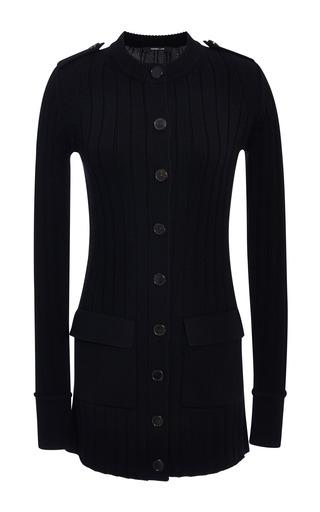 Medium derek lam black black merino wool long sweater