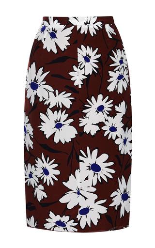 Medium nina ricci print printed silk skirt 2