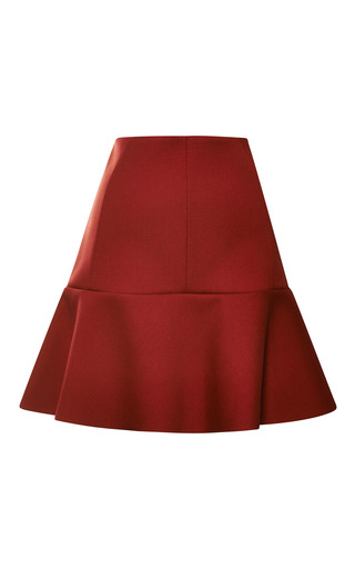 Medium nina ricci red bonded wool skirt 2