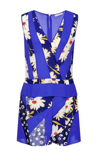 Medium nina ricci print printed silk patchwork dress