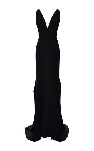 Medium nina ricci black silk crepe gown 3