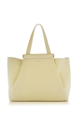 Medium nina ricci white thais large shopping bag in calfskin