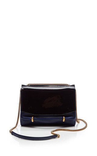 Medium nina ricci multi small marche chaine bag in patent leather calfskin and snakeskin