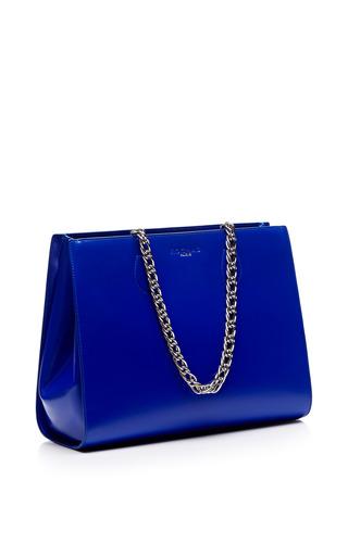 Cobalt Calfskin Chain Shopping Tote by ROCHAS for Preorder on Moda Operandi