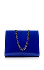 Cobalt Calfskin Chain Shopping Tote by ROCHAS for Preorder on Moda Operandi
