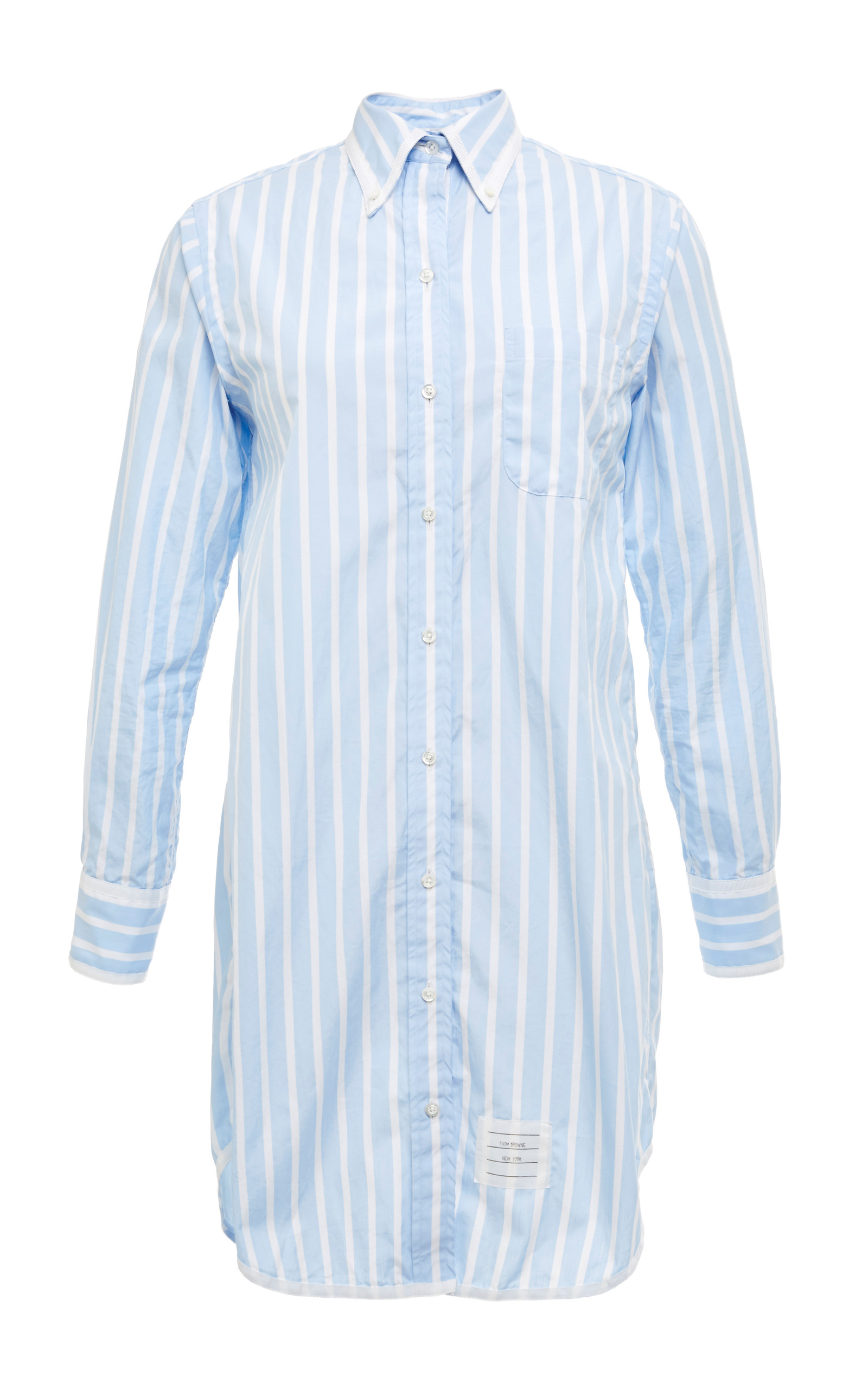 bcf3434752867 ... Sleeve Classic Long Shirt Dress In Light Blue With White Stripes.  CLOSE. Loading
