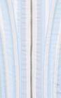 Corset In Light Blue With White Stripe Poplin by THOM BROWNE for Preorder on Moda Operandi