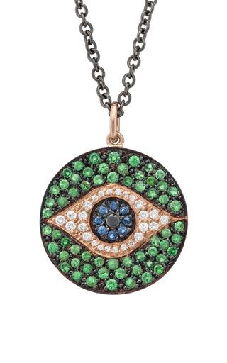Dawn Pendant In Green by ILEANA MAKRI for Preorder on Moda Operandi