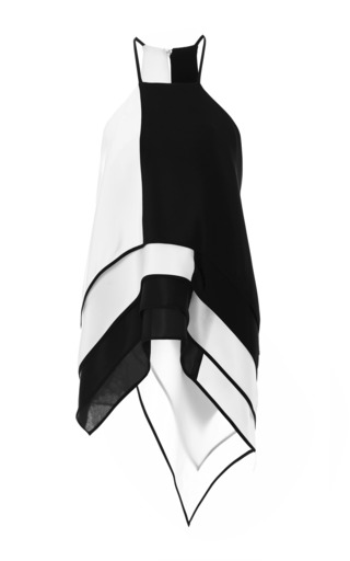 Medium monique lhuillier white silk crepe scarf tunic