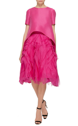 Monique Lhuillier Silk Gazar Evening Tunic by MONIQUE LHUILLIER for Preorder on Moda Operandi