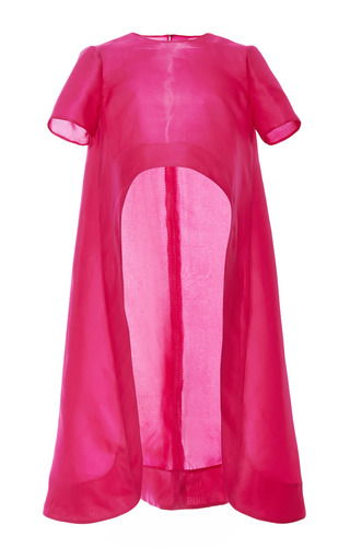 Medium monique lhuillier fuchsia silk gazar evening tunic