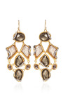 Phoenix 18 K Gold Black Moonstone And Pyrite Cluster Earrings by ALEXIS BITTAR for Preorder on Moda Operandi