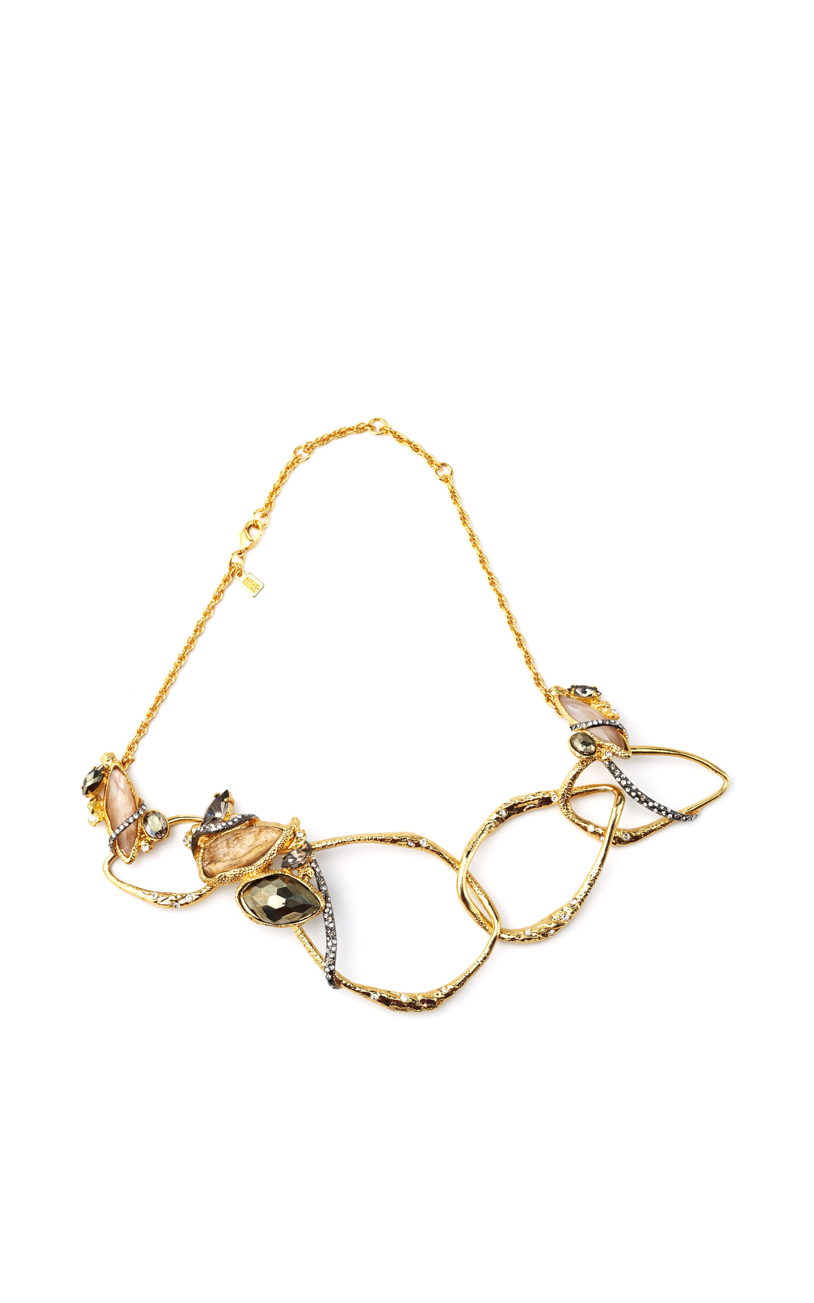 lucite bittar image alexis fwrd abit neo necklace in curb link product gold of bohemian