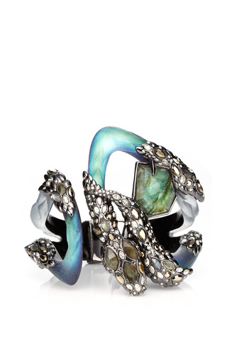 Imperial Noir Extra Large Crystal Lace Snake Bracelet by ALEXIS BITTAR for Preorder on Moda Operandi