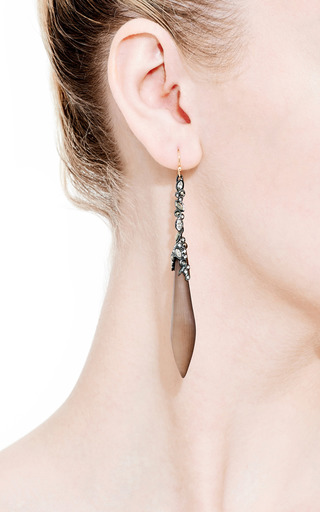 Imperial Noir Crystal Lace Tear Earrings by ALEXIS BITTAR for Preorder on Moda Operandi