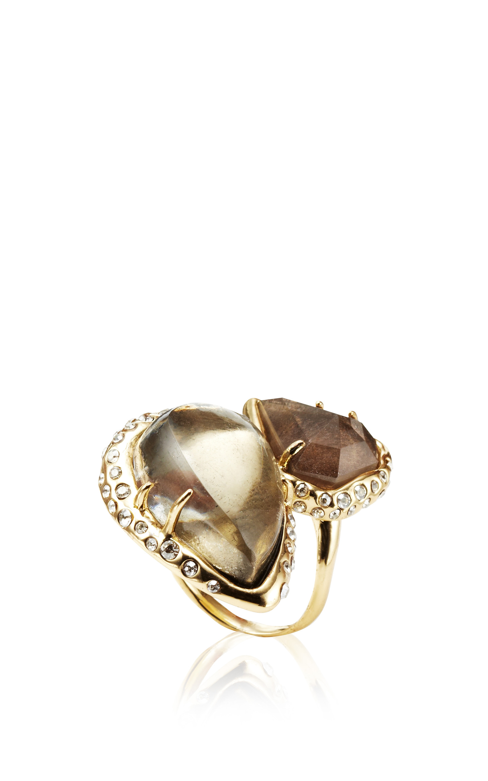lyst metallic in signet ring gold alexis rose halo bittar rings jewelry
