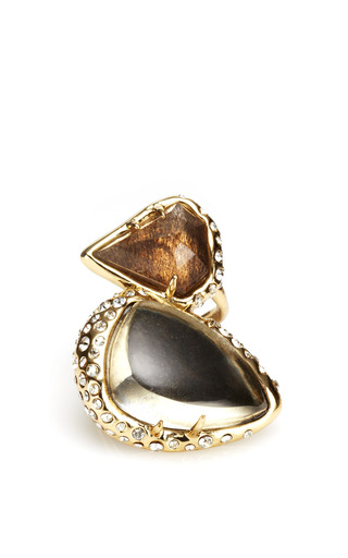 Medium alexis bittar black miss havisham stacked cocktail ring