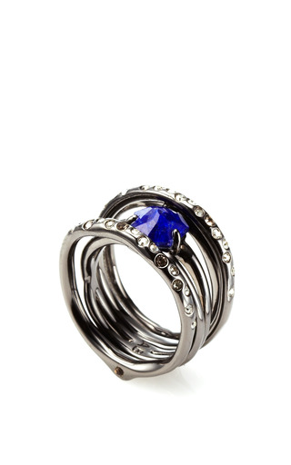 Miss Havisham Rotating Stack Lapis Ring by ALEXIS BITTAR for Preorder on Moda Operandi
