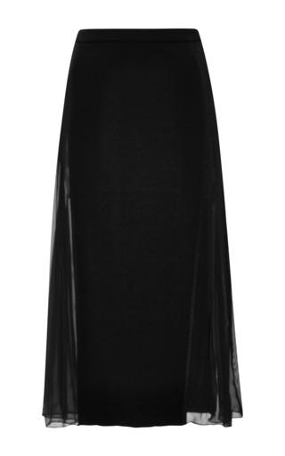 Medium derek lam 10 crosby black downtown crepe skirt with sheer side panel
