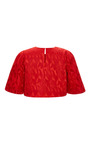 Textured Jacquard Cropped Blouse by PRABAL GURUNG for Preorder on Moda Operandi