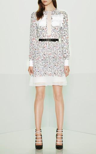 Printed Georgette Long Sleeve Dress by PRABAL GURUNG for Preorder on Moda Operandi