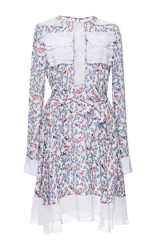 Medium prabal gurung multi printed georgette long sleeve dress