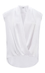 Prabal Gurung Charmeuse Draped V Neck Blouse by PRABAL GURUNG Now Available on Moda Operandi