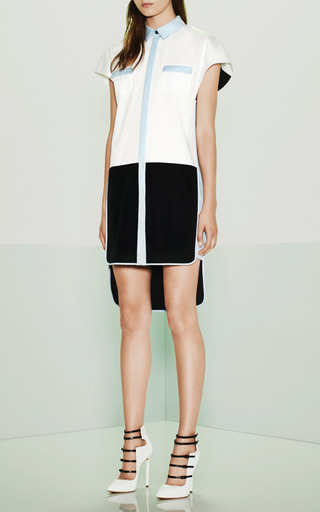 Cotton Draped Tunic Dress by PRABAL GURUNG Now Available on Moda Operandi