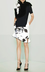 Technical Satin Asymmetrical Tulip Skirt by PRABAL GURUNG for Preorder on Moda Operandi