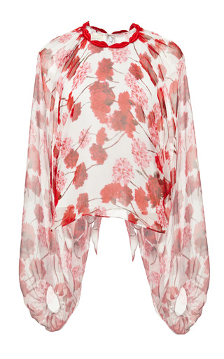 Medium giambattista valli print carnation georgette kimono blouse