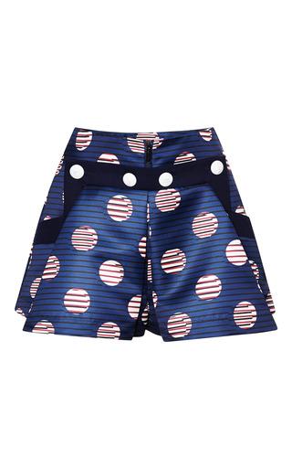 Medium kenzo print duchess satin dots and stripes short