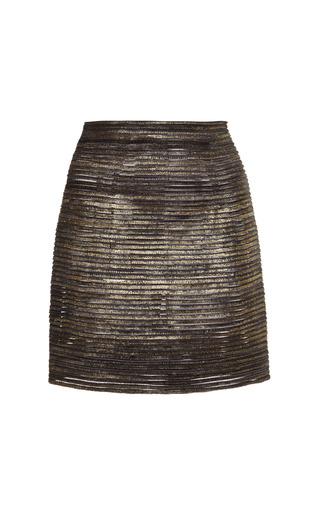 Medium j mendel black transparent strip pencil skirt