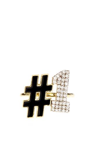 Medium alison lou black 1 ring