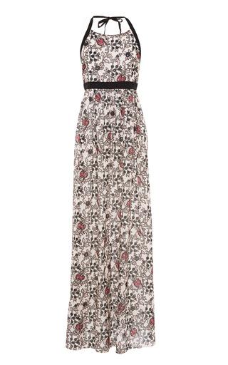 Medium thakoon addition multi floral print cotton eyelet maxi dress