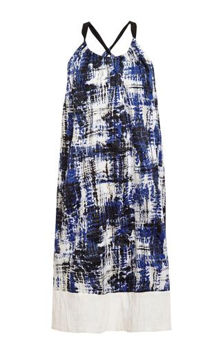 Medium sea multi brushstroke cotton tank dress