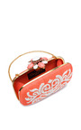 Cabochon Goa Cutch In Coral Raffia by OSCAR DE LA RENTA for Preorder on Moda Operandi