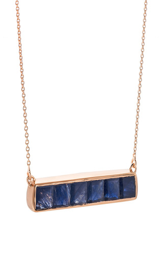 Baja Precious Necklace In Blue Sapphire by MONICA VINADER for Preorder on Moda Operandi
