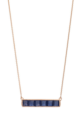 Medium monica vinader blue baja precious necklace in blue sapphire