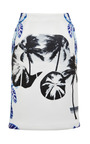 Pelagic Painted Leaves Pencil Skirt by OPENING CEREMONY for Preorder on Moda Operandi