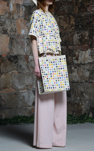 Tote Bag With Multicolored Snap Embroidery by ROSIE ASSOULIN Now Available on Moda Operandi