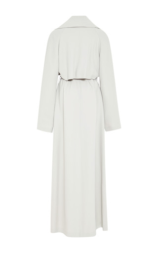 Mist Grey Floor Length Trench Coat by ROSIE ASSOULIN for Preorder on Moda Operandi