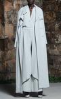 Mist Grey Floor Length Trench Coat by ROSIE ASSOULIN for Preorder on Moda Operandi