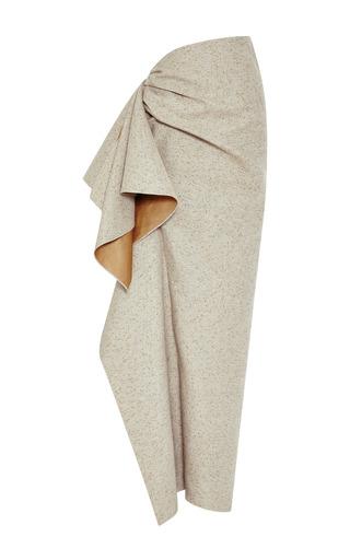 Medium rosie assoulin dark grey speckled grey side ruffle skirt