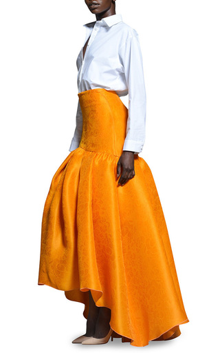 Rosie Assoulin Satsuma Floral Jacquard Brush Skirt by ROSIE ASSOULIN Now Available on Moda Operandi