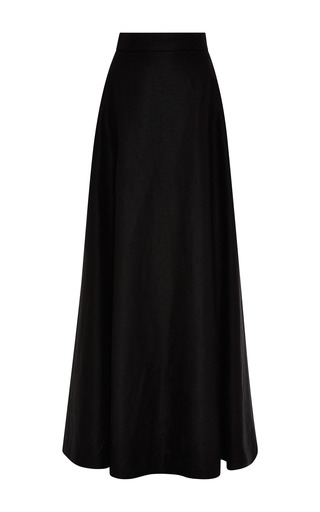 Medium rosie assoulin black black hemp canvas a line ball skirt