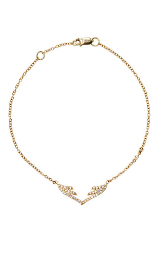 Medium paige novick yellow stella wing chain bracelet