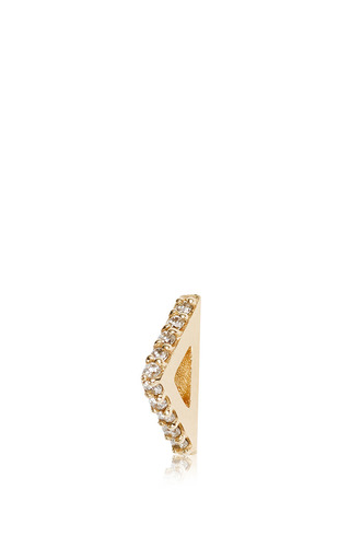 Sasha Triangle Single Stud by PAIGE NOVICK for Preorder on Moda Operandi
