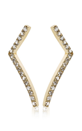 Medium paige novick gold elizabeth classic short bar earring