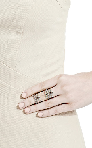 Cristina Double Flex Bar Ring by PAIGE NOVICK for Preorder on Moda Operandi
